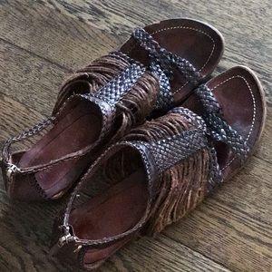 GUC Francesco Morichetti braided leather sandals